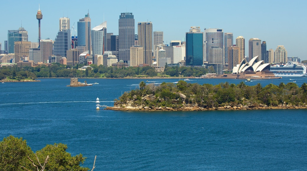 Taronga Zoo which includes city views, a bay or harbor and general coastal views
