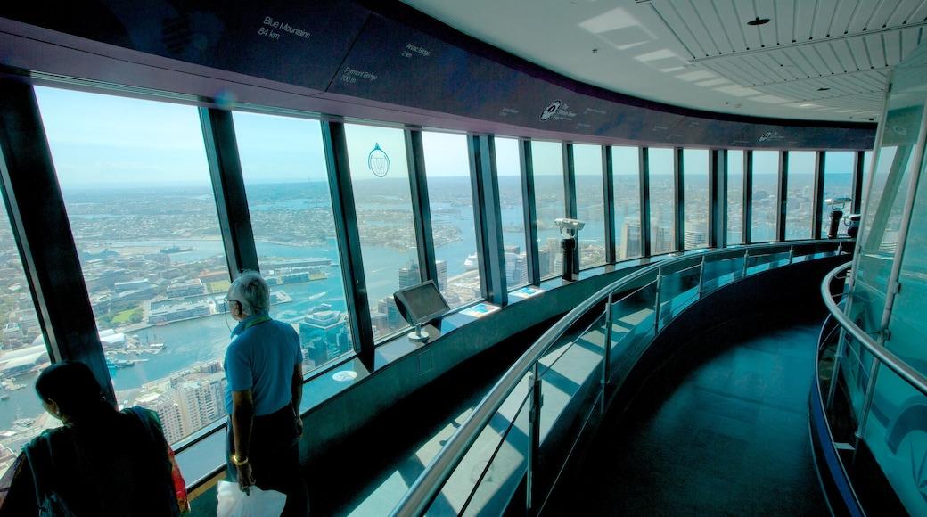 Sydney Tower showing interior views