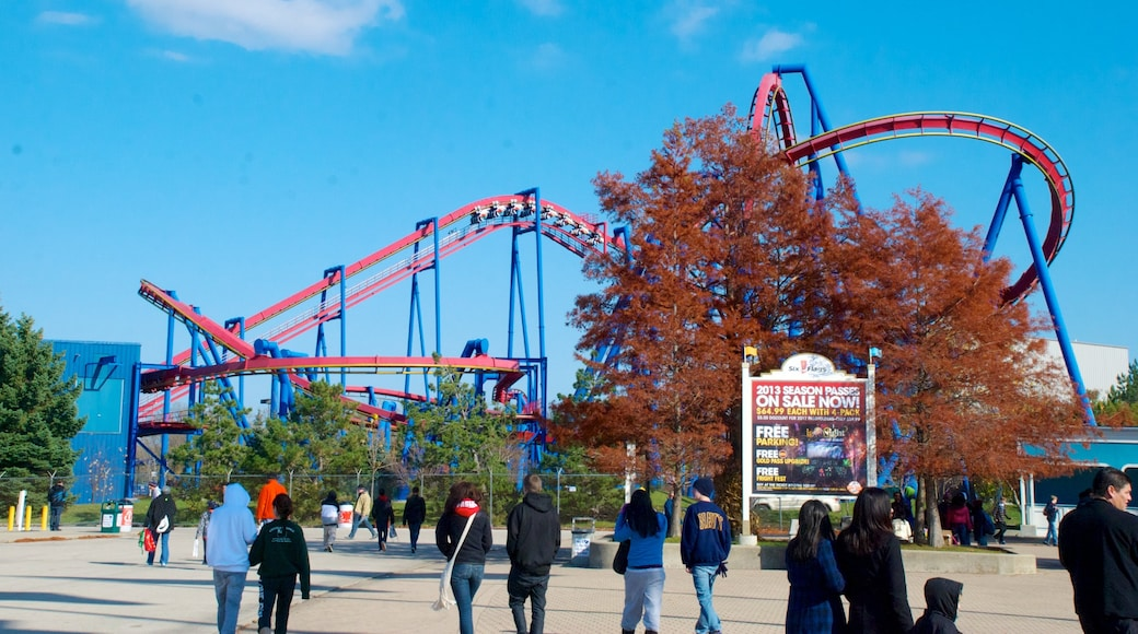 Six Flags Great America featuring rides