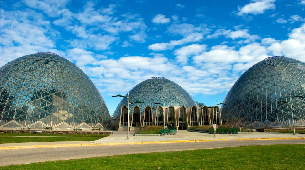 Mitchell Park Horticultural Conservatory featuring a garden and modern architecture
