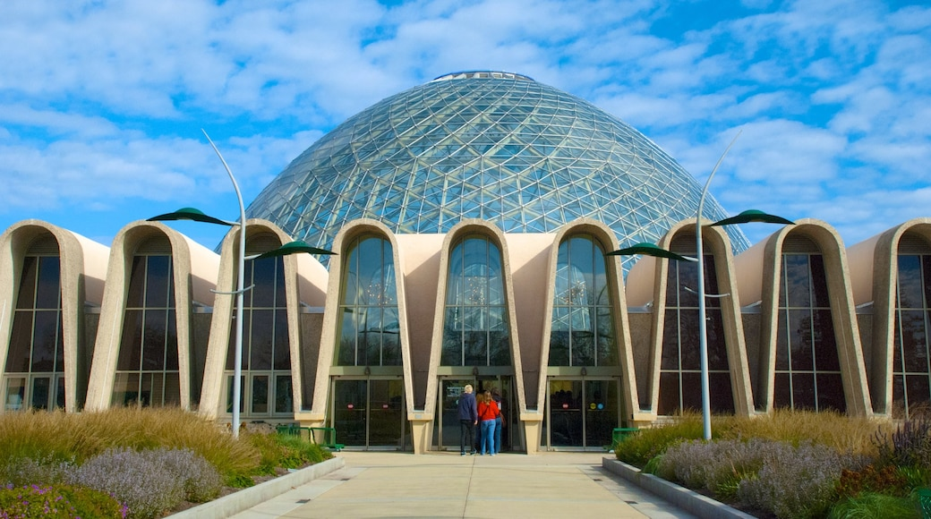 Mitchell Park Horticultural Conservatory featuring modern architecture and a city