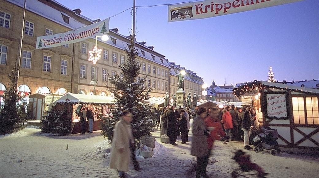 Bamberg caratteristiche di neve e città