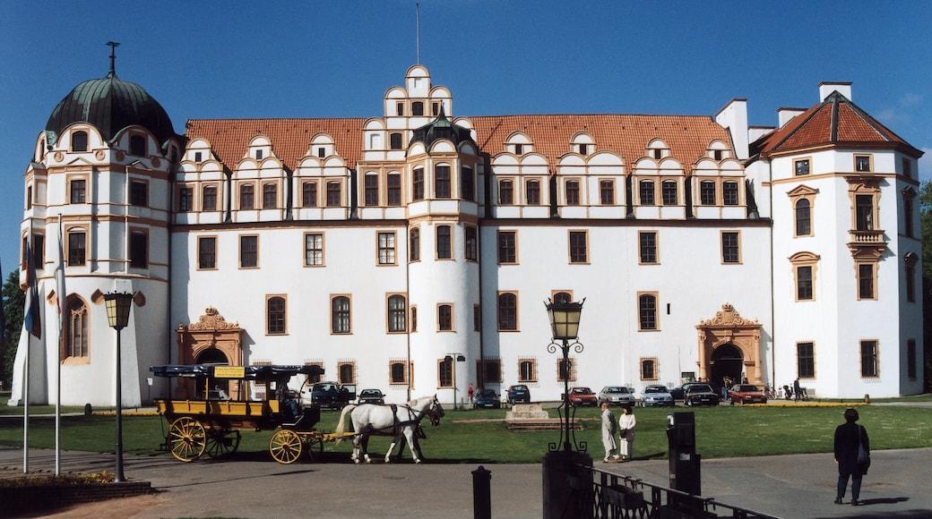 Celle toont historische architectuur, een kasteel en een klein stadje of dorpje