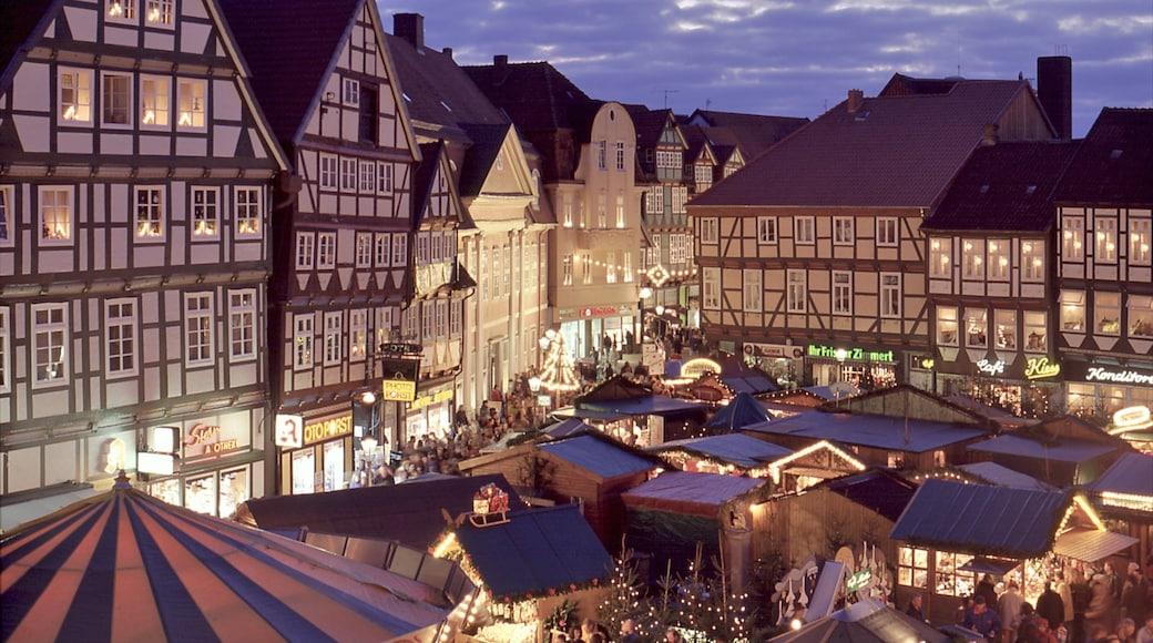 Celle inclusief een stad, nachtleven en historische architectuur