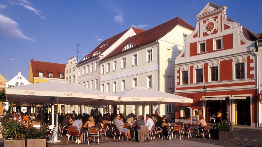 Cottbus mit einem Straßenszenen, historische Architektur und Restaurants und Lokale