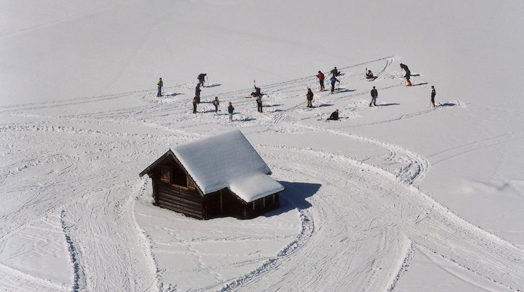 Garmisch-Partenkirchen som visar snö