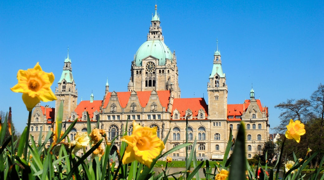 Hannover which includes a park, chateau or palace and flowers