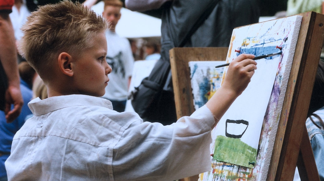 Krefeld showing art as well as an individual child