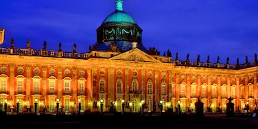 Potsdam featuring château or palace, night scenes and heritage architecture