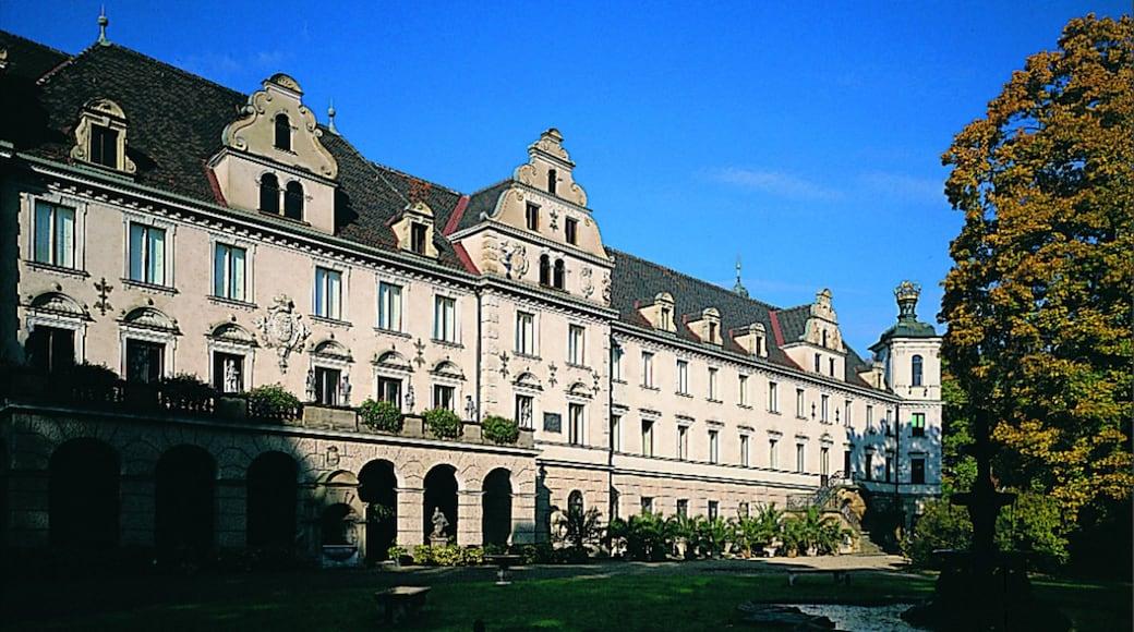Regensburg mostrando architettura d\'epoca e castello o palazzo