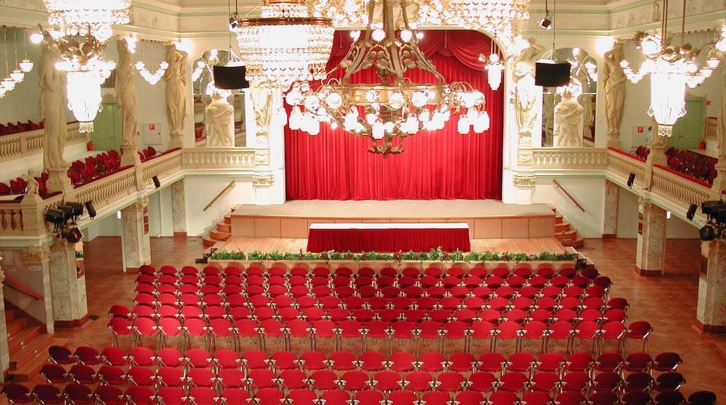 Zwickau som omfatter interiør og teaterliv