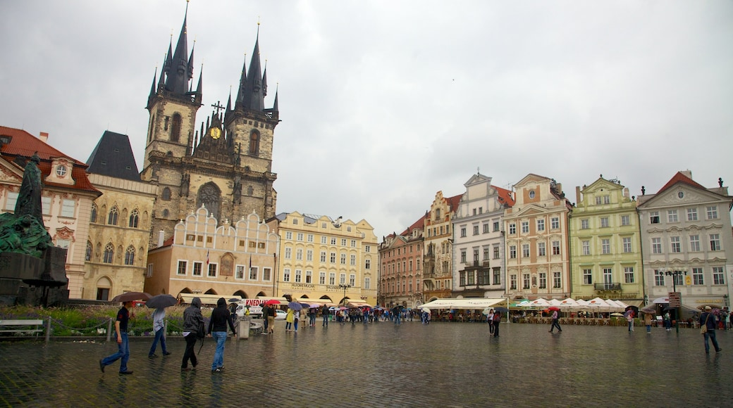Old Town Square featuring heritage architecture, a square or plaza and a city