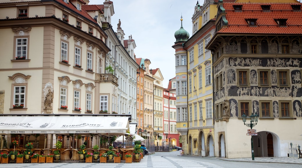 Old Town Square which includes a city, heritage architecture and street scenes