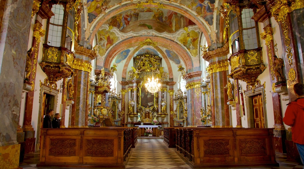 Loreta Monastery and Treasury featuring heritage architecture, a church or cathedral and interior views