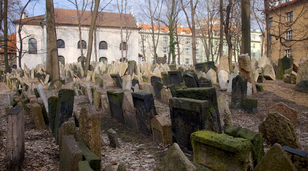 Old Jewish Cemetery featuring a cemetery and a memorial