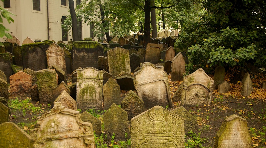 Old Jewish Cemetery featuring religious elements and a cemetery