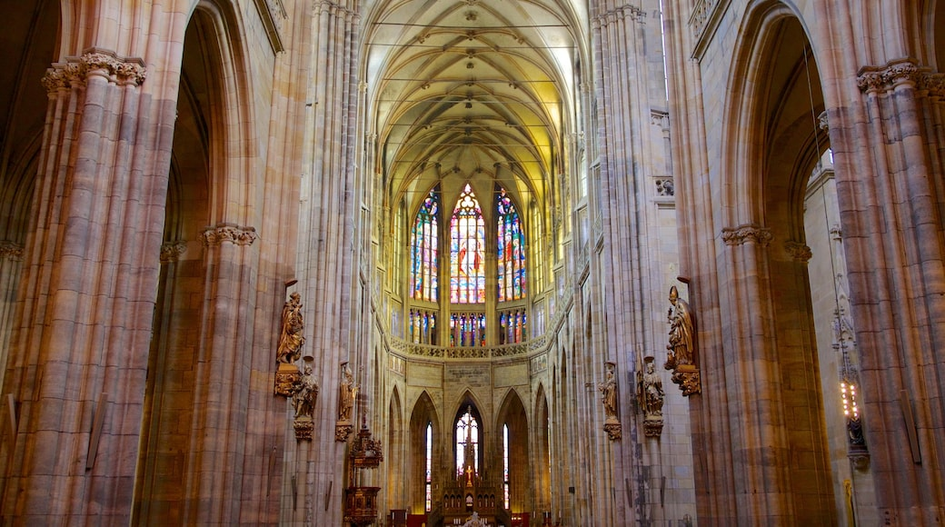 St. Vitus Cathedral which includes a church or cathedral, religious aspects and interior views