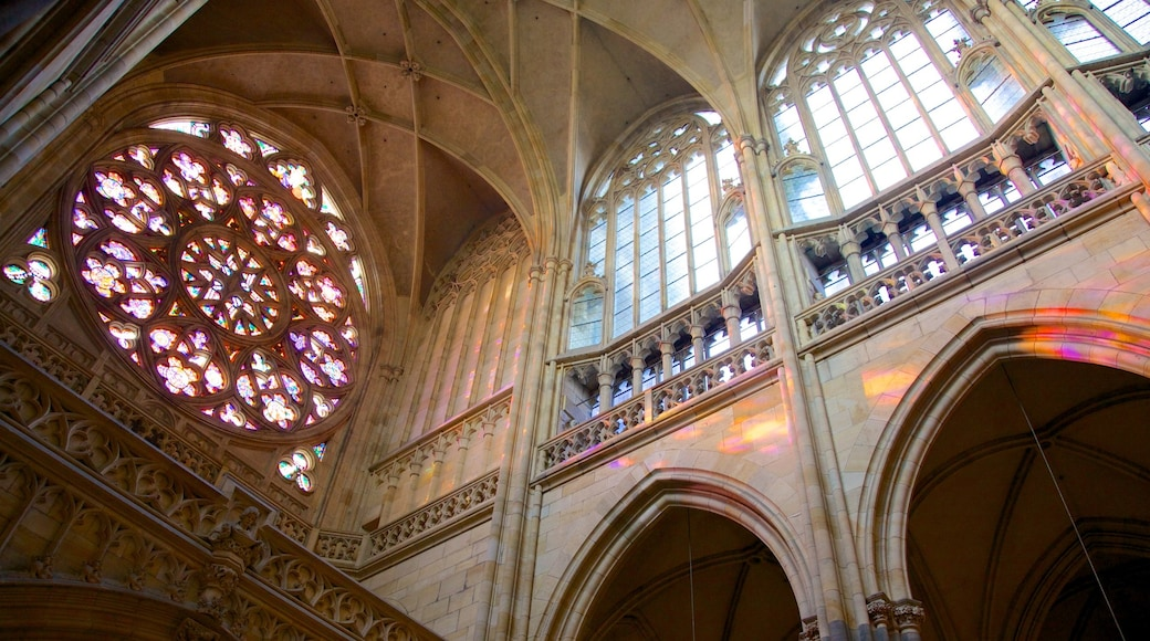 St. Vitus Cathedral which includes interior views, a church or cathedral and religious aspects