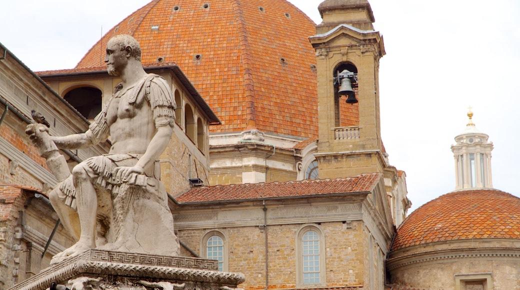 โบสถ์ซานลอเรนโซ ซึ่งรวมถึง แง่มุมทางศาสนา, อนุสาวรีย์หรือรูปปั้น และ มรดกทางสถาปัตยกรรม