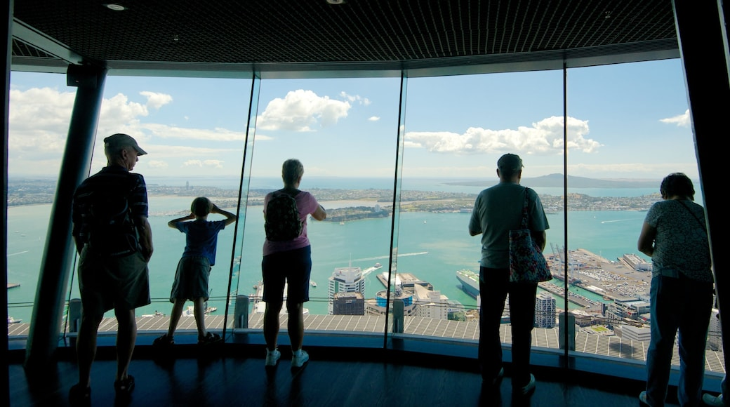 Sky Tower featuring modern architecture, views and interior views