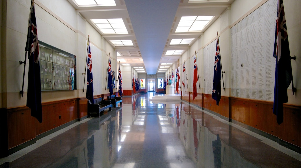 Auckland War Memorial Museum which includes a memorial and interior views