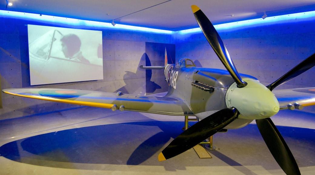 Auckland War Memorial Museum featuring aircraft and interior views