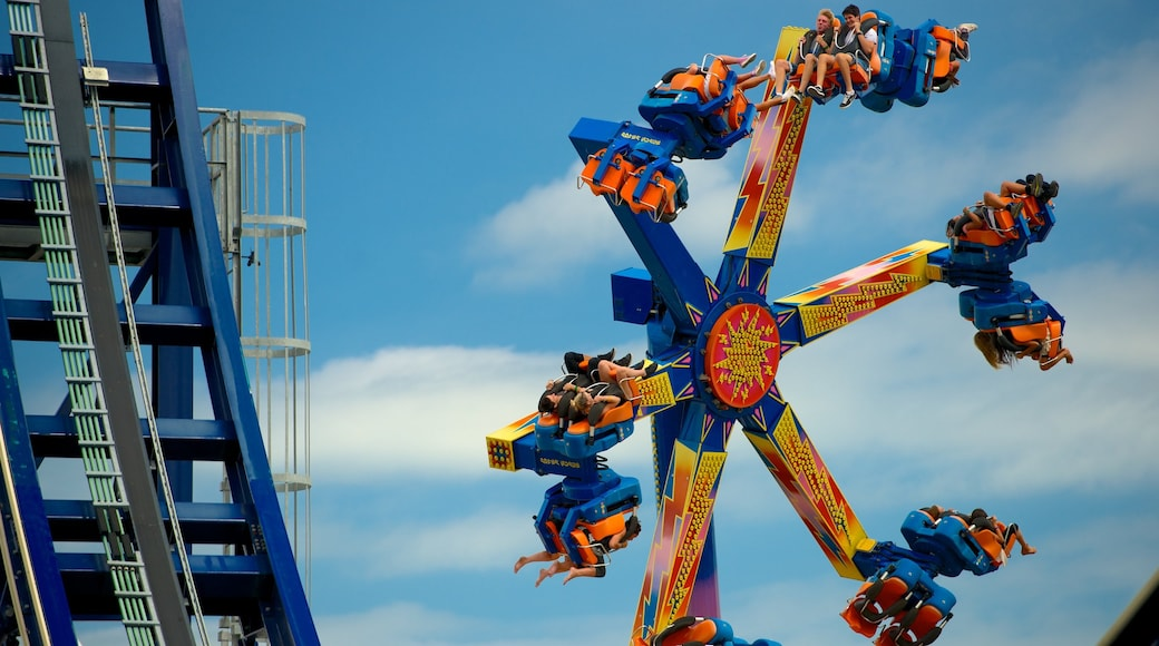 Rainbow\'s End which includes rides