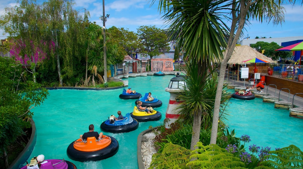 Rainbow\'s End which includes a pool, a water park and rides