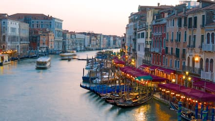 Grand Canal featuring heritage architecture, a river or creek and a ferry