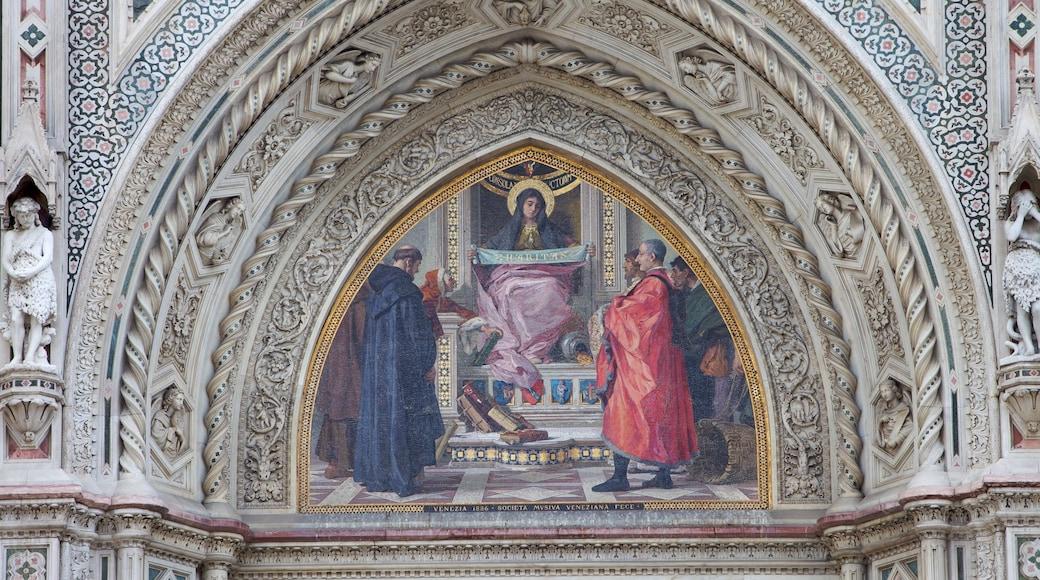 วิหาร Santa Maria del Fiore ซึ่งรวมถึง การตกแต่งภายใน, องค์ประกอบด้านศาสนา และ โบสถ์หรือวิหาร