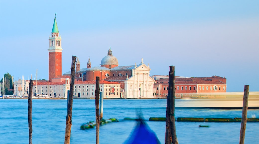 Church of San Giorgio Maggiore which includes religious aspects, general coastal views and a church or cathedral