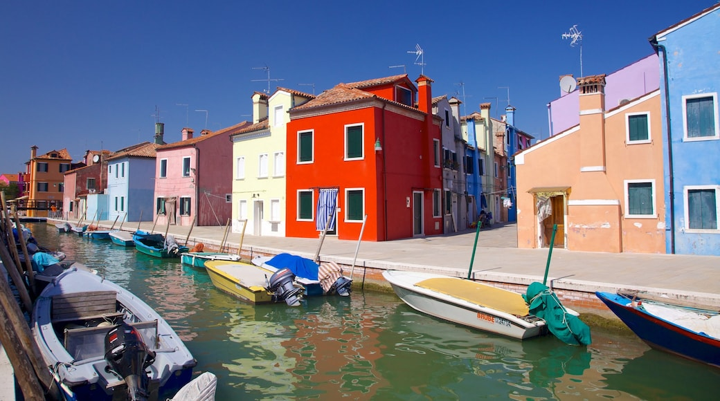 Burano featuring boating, a house and a coastal town