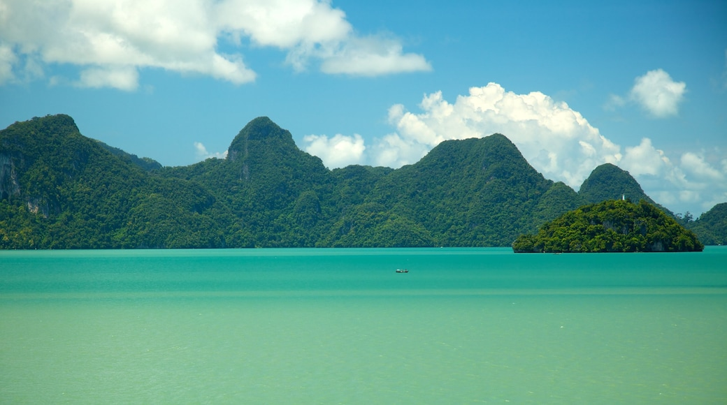 Datai Bay which includes general coastal views, landscape views and tropical scenes