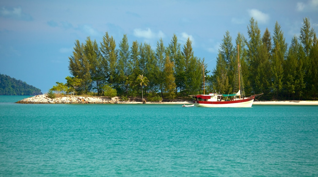 Datai Bay featuring landscape views, boating and general coastal views