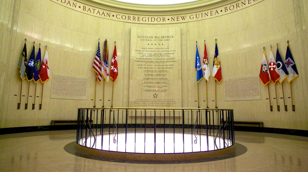 Douglas MacArthur Memorial which includes interior views and a memorial