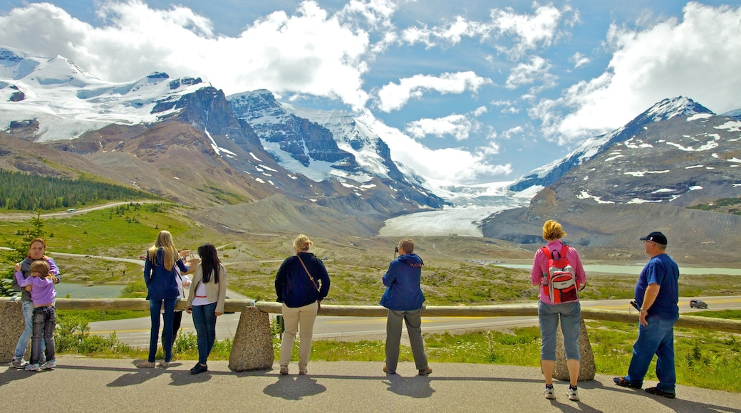 Columbia Icefield featuring mountains, views and landscape views