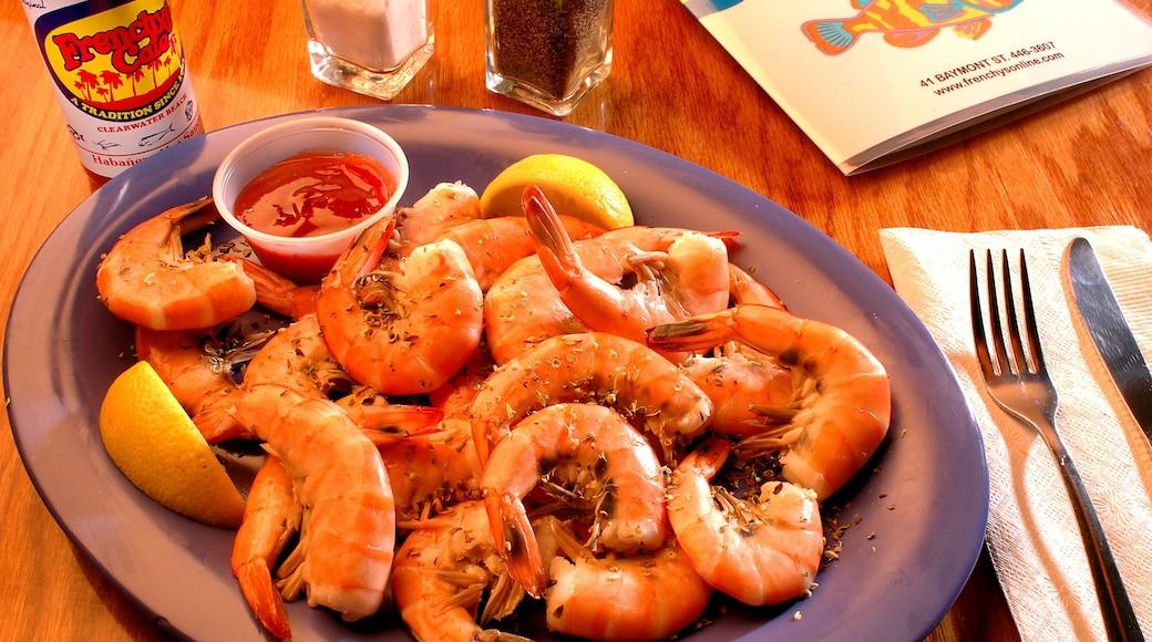 Clearwater Beach mit einem Speisen und Innenansichten