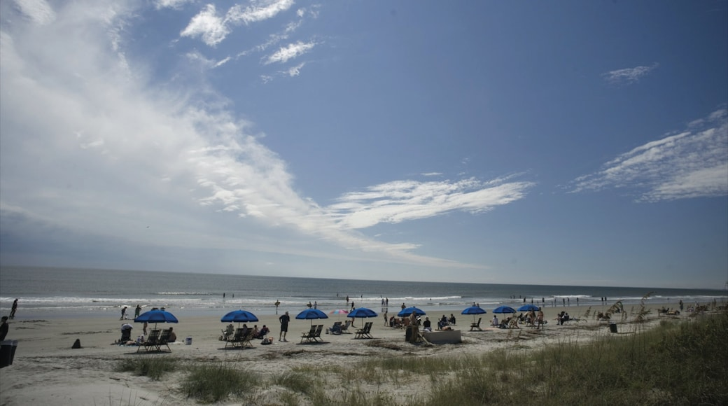 Hilton Head which includes a sandy beach as well as a large group of people