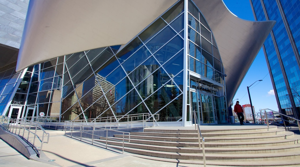 Art Gallery of Alberta which includes cbd, art and modern architecture