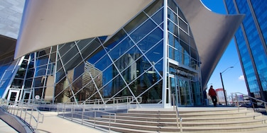 Art Gallery of Alberta showing cbd, art and modern architecture