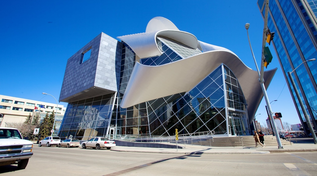 Art Gallery of Alberta showing art, street scenes and a city