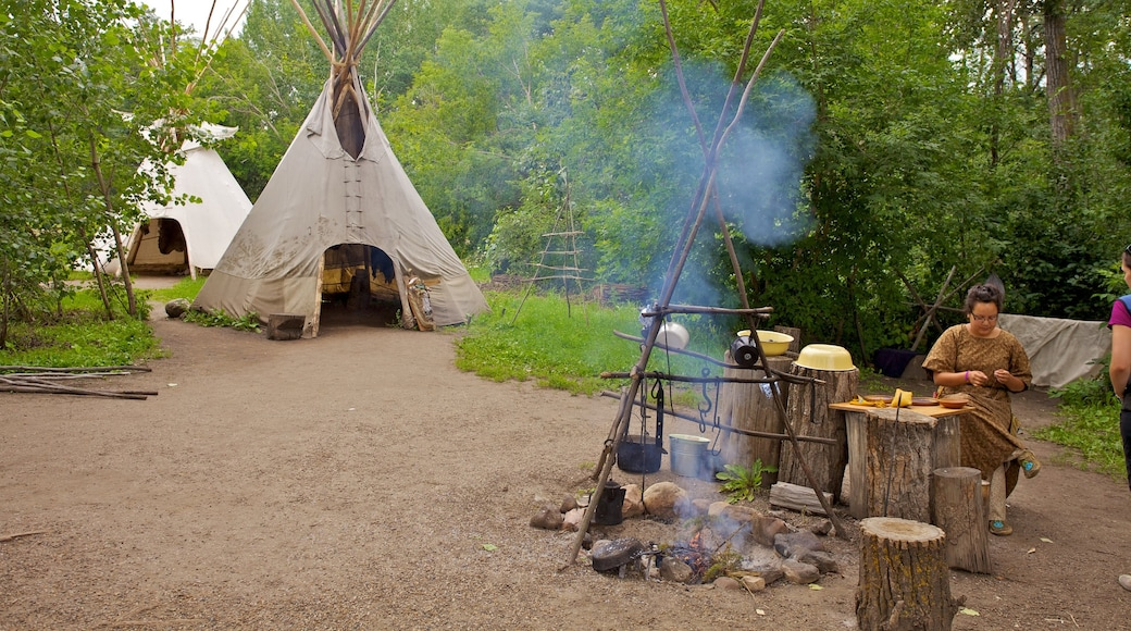 Fort Edmonton Park featuring camping, indigenous culture and a park