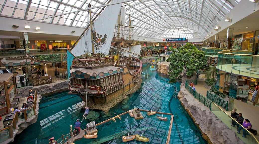West Edmonton Mall featuring central business district, shopping and interior views