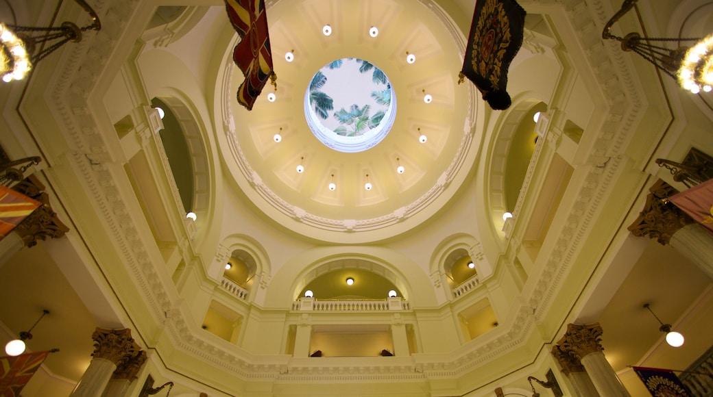 Alberta Legislature Building featuring an administrative building, heritage architecture and interior views