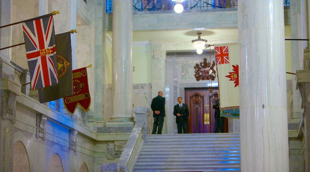 Alberta Legislature Building showing heritage architecture, interior views and an administrative building