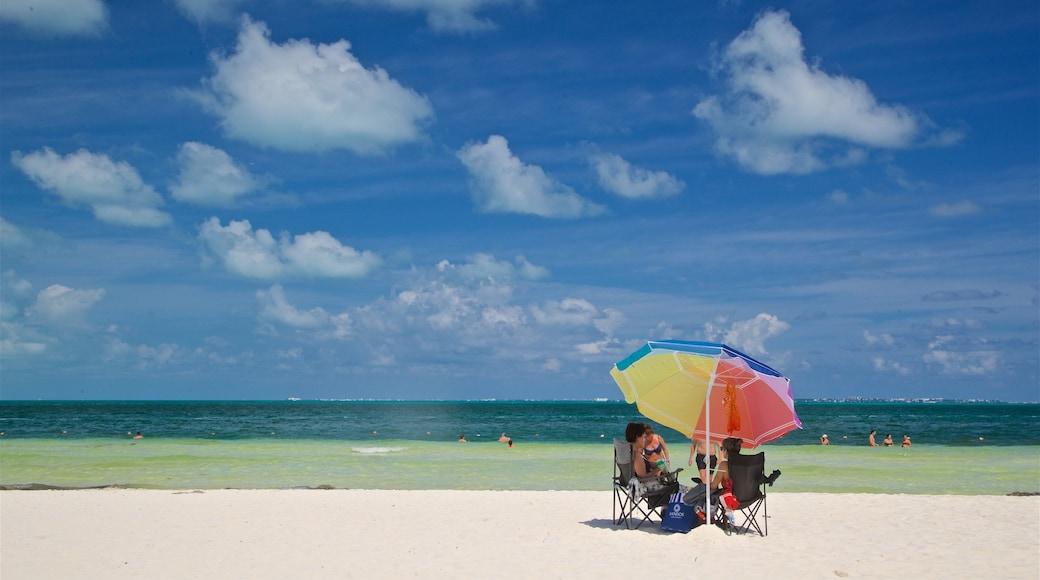 Playa Langosta toont tropische uitzichten, algemene kustgezichten en een strand