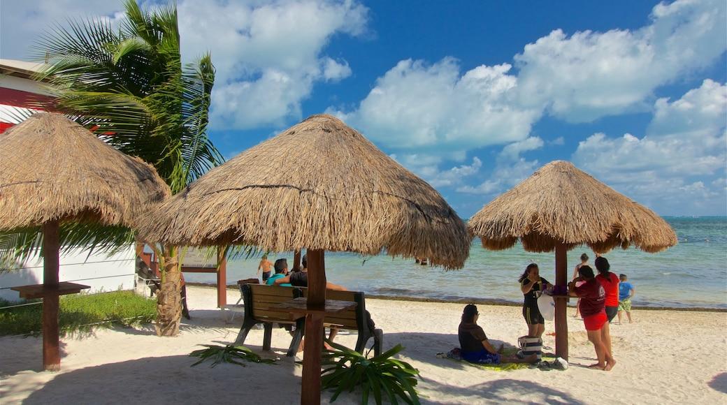 Playa Las Perlas bevat een zandstrand, algemene kustgezichten en tropische uitzichten