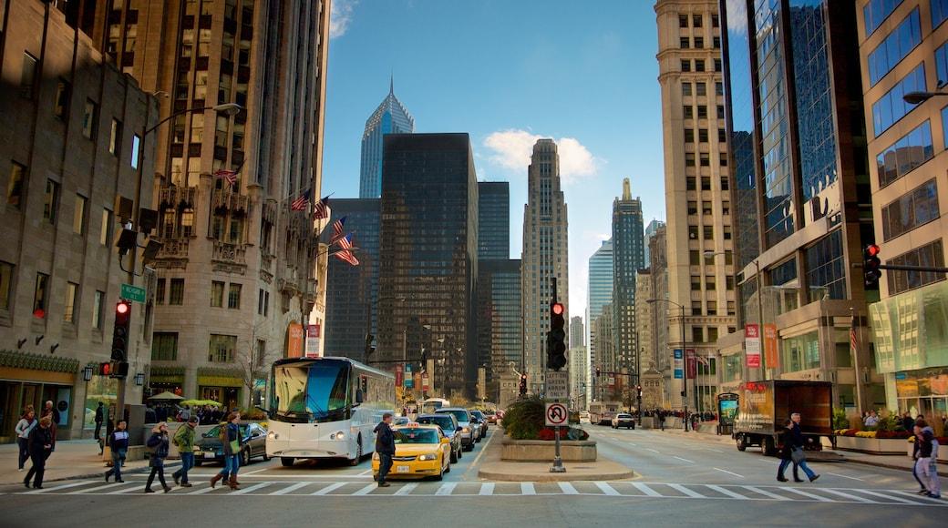 ย่านดาวน์ทาวน์ของชิคาโก เนื้อเรื่องที่ เมือง