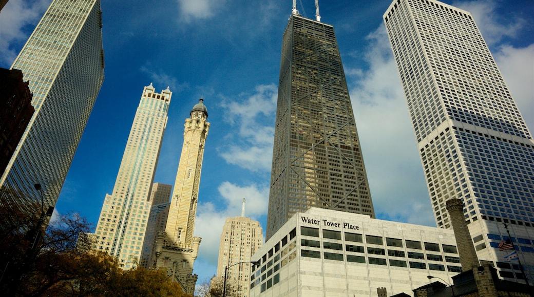 ย่านดาวน์ทาวน์ของชิคาโก ซึ่งรวมถึง เมือง และ อาคารสูง