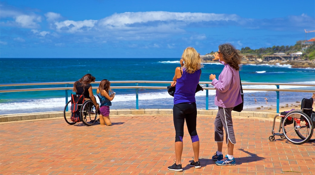 Coogee Beach which includes views and general coastal views as well as a couple